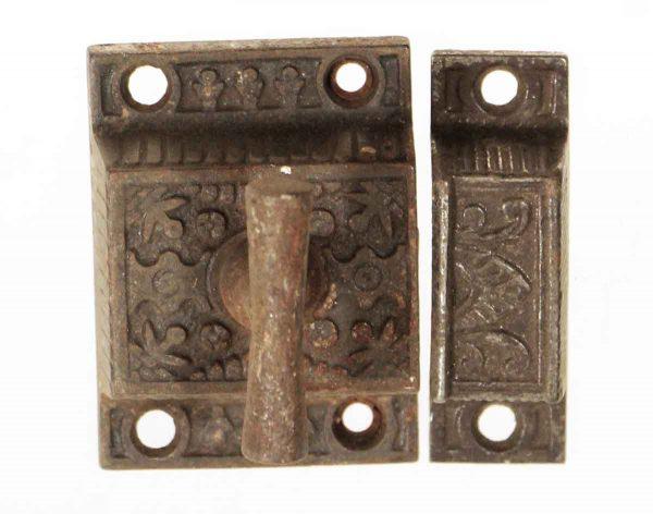 Cabinet & Furniture Latches - Antique Cast Iron High Profile Cabinet Latch