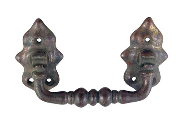 Cabinet & Furniture Pulls - Antique Arts & Crafts Bronze Drawer Pull