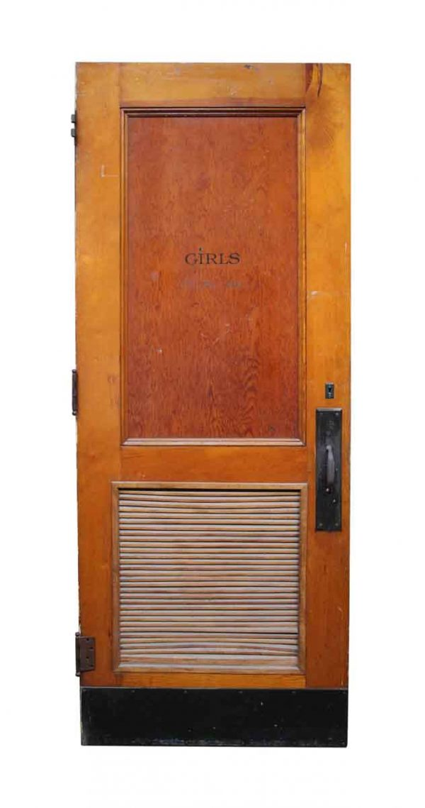 Commercial Doors - Old Bathroom Door with Louvered Panel