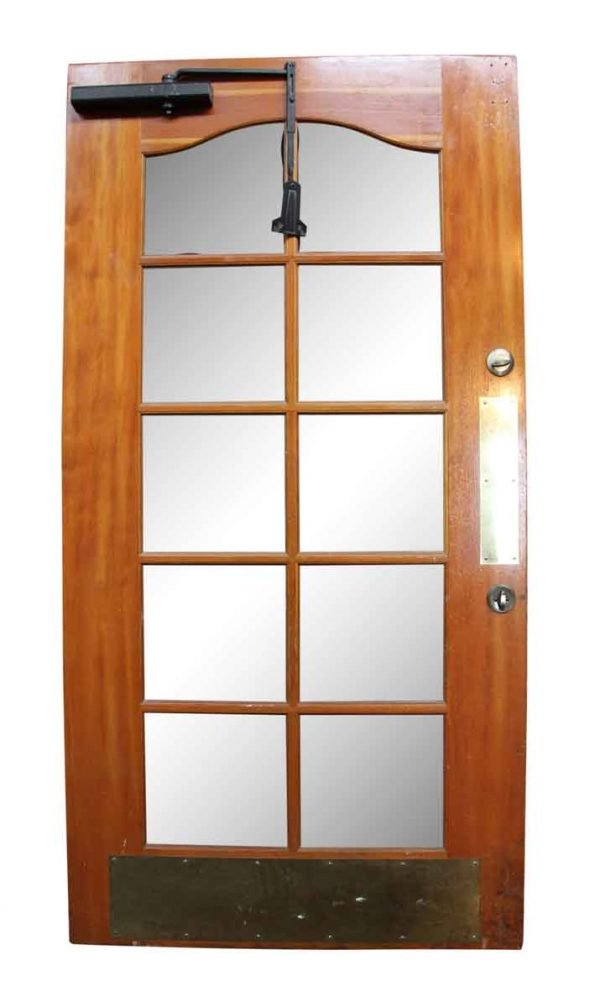 Commercial Doors - Old Wooden Door with Beveled Glass Panels