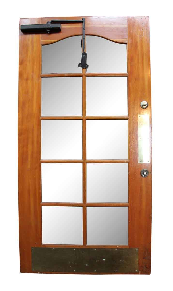 Old Wooden Door with Beveled Glass Panels | Olde Good Things