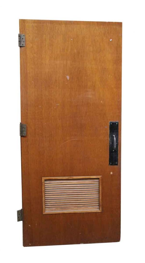 Commercial Doors - Old Wooden Door with Small Louvered Panel