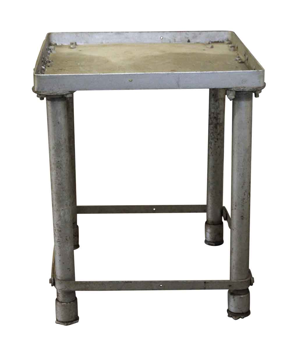 Showroom Furniture For Sale: Reclaimed Used Gray Industrial Metal Table