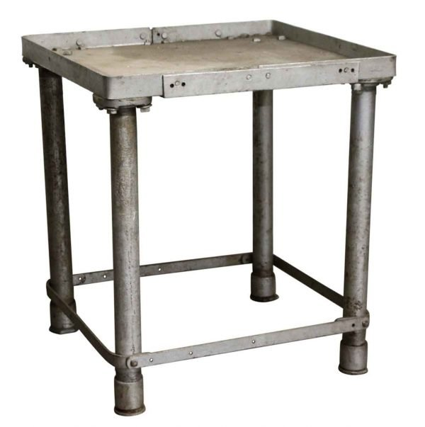 Commercial Furniture - Reclaimed Used Gray Industrial Metal Table