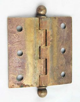 Antique Ball Finial Bronze Hinge