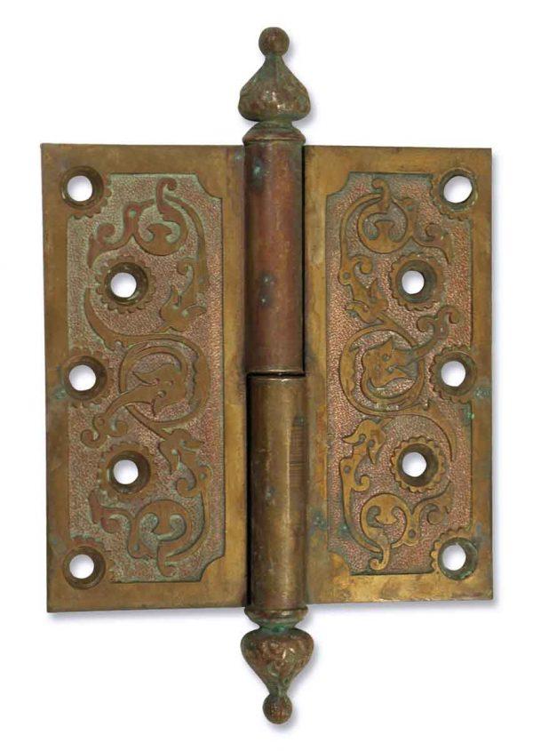 Door Hinges - Antique Ornate Hinge with Steeple Tips