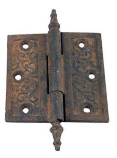 Ornate Door Hinge With Steeple Tips