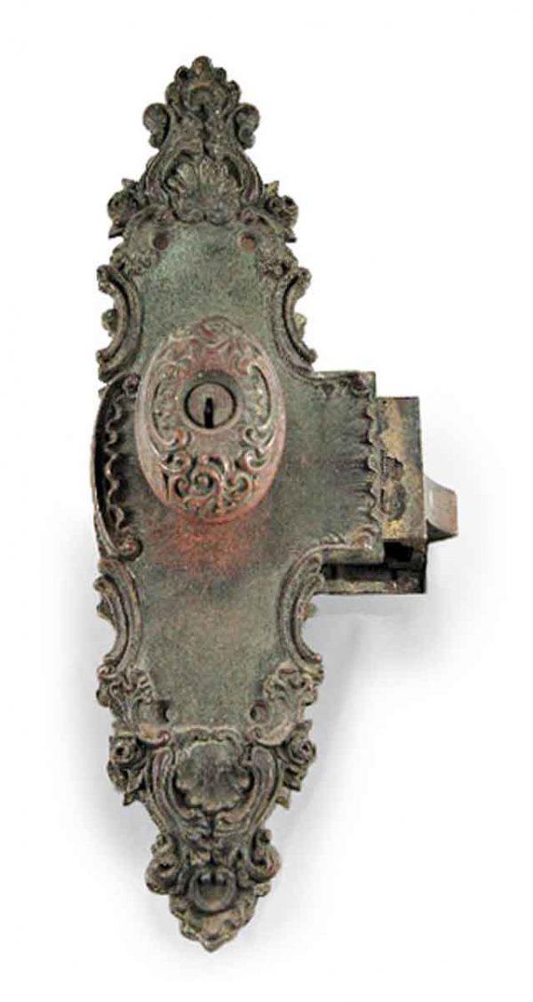Door Knob Sets - Antique Art Nouveau Monolock Door Knob Set