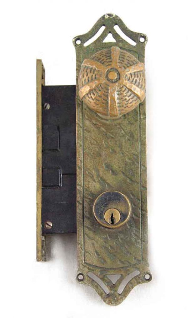 Door Knob Sets - Antique Arts & Crafts Entry Door Knob Set