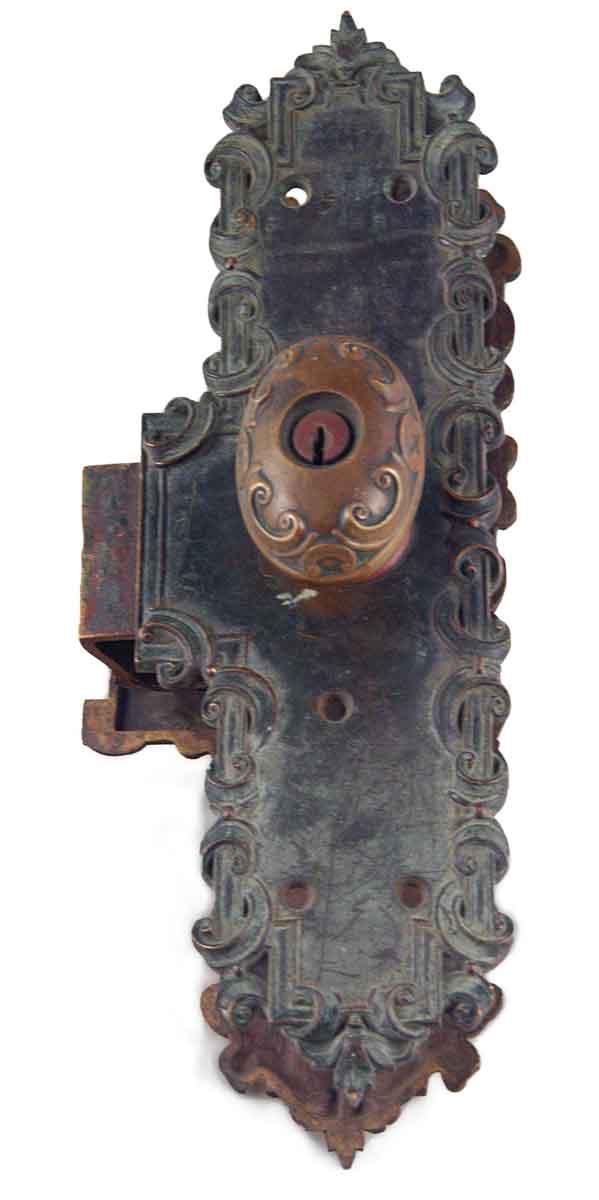 Door Knob Sets - Antique Bronze Oval Knob Monolock Door Set