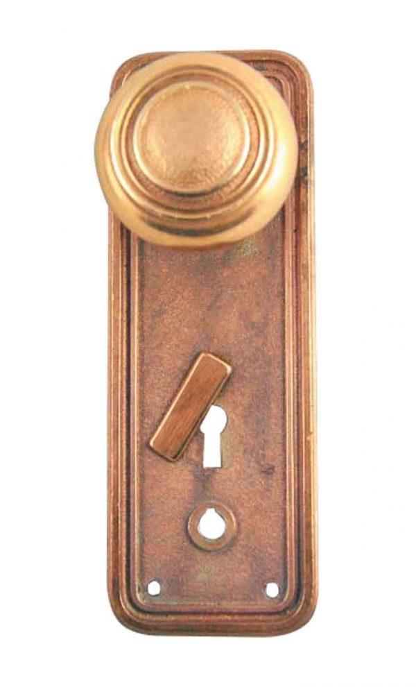 Door Knob Sets - Antique Concentric Bronze Knob Set