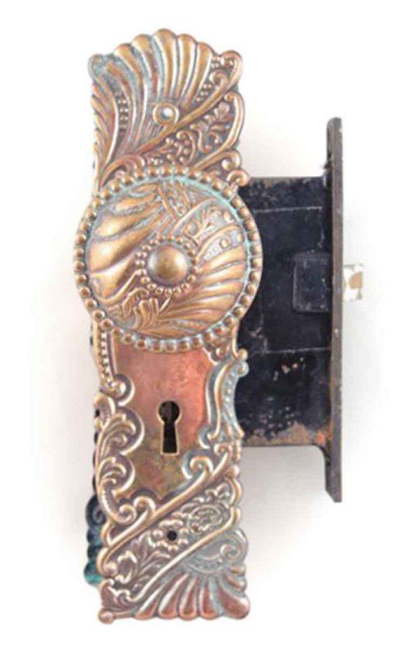 Door Knob Sets - Antique Corbin Brass Roanoke Door Knob Set