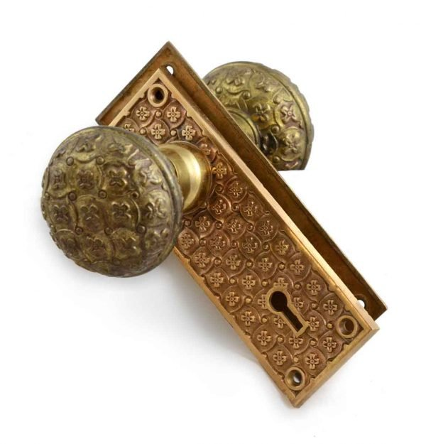 Door Knob Sets - Antique East Indian Yale & Towne Passage Door Knob Set