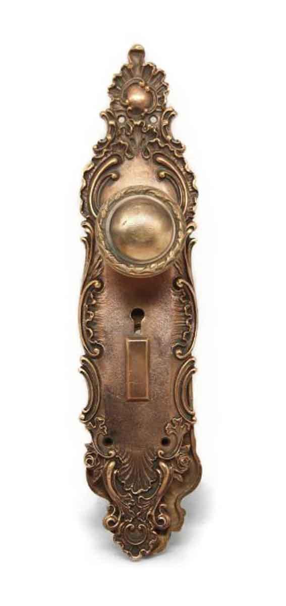 Door Knob Sets - Antique Lockwood French Renaissance Entry Door Knob Set