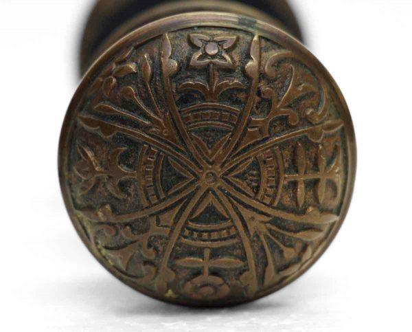 Door Knob Sets - Antique Lockwood Vernacular Bronze Knob Set