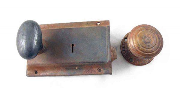 Door Knob Sets - Antique Nautical Bronze Rim Lock Set