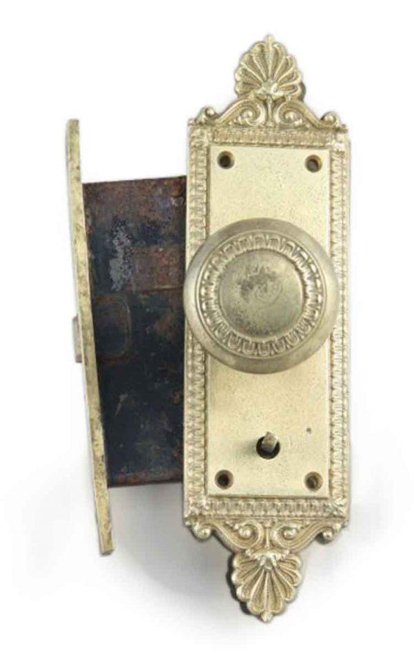 Door Knob Sets - Antique Neoclassical Brass Concentric Entry Knob Set