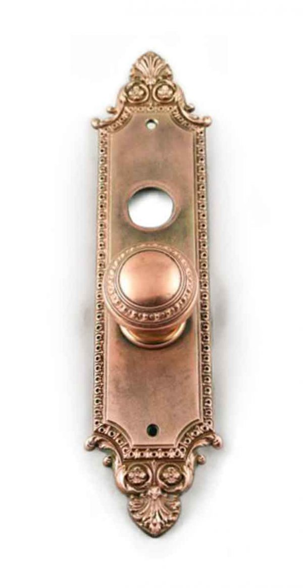 Door Knob Sets - Antique Neoclassical Copper Plated Door Knob Set