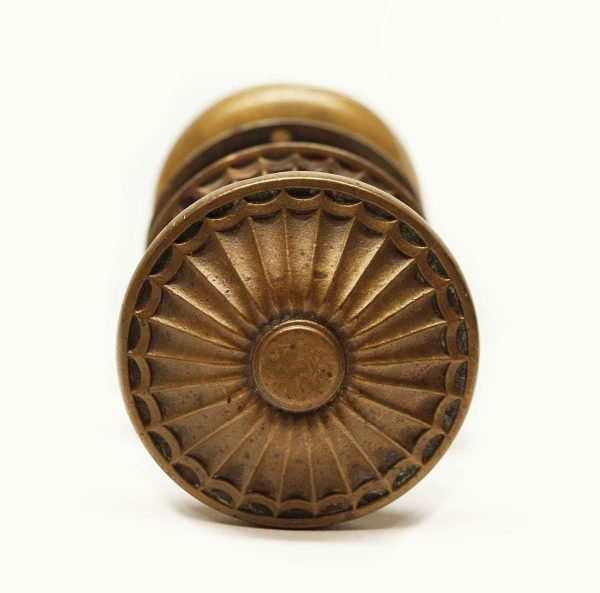 Door Knob Sets - Antique Radial Style Bronze Knob Set