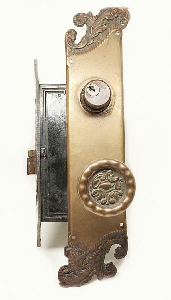 Door Knob Sets - Antique Reading Rococo Bronze Entry Knob Set