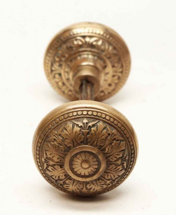 Door Knob Sets - Antique Russell & Erwin Classic Brass Knob Set