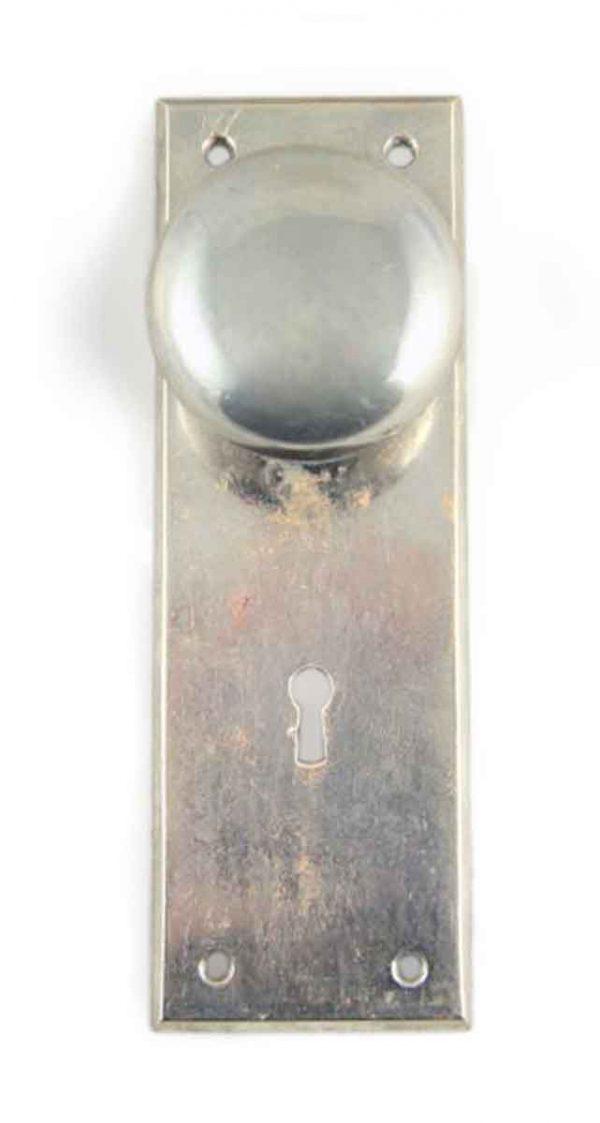 Door Knob Sets - Vintage Classic Nickel Over Brass Door Knob Set