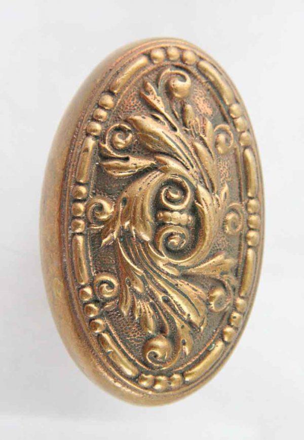 Door Knobs - Antique Barrows Bronze Oval Door Knob