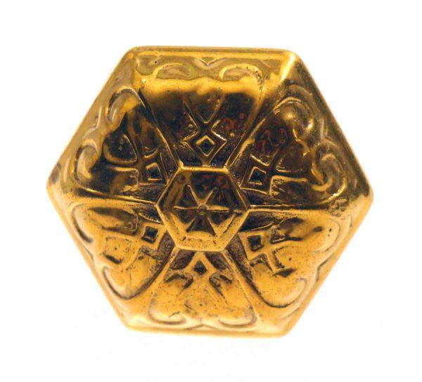 Door Knobs - Antique Bronze Hexagon Shaped Vernacular Knob