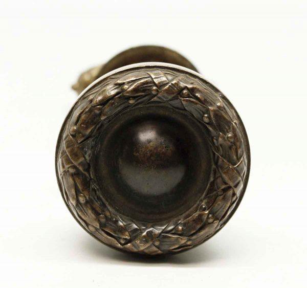 Door Knobs - Antique Bronze Lever & Basket Weave Knob Set