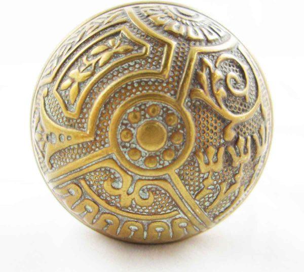Door Knobs - Antique Corbin Brass Ceylon Door Knob Set
