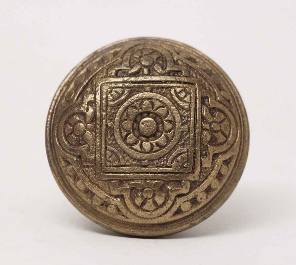 Door Knobs - Antique Corbin Four Fold Bronze Vernacular Door Knob