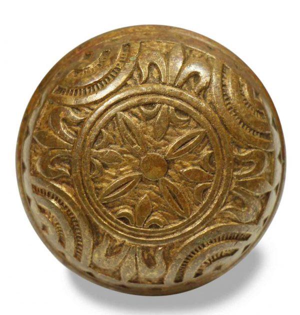 Door Knobs - Antique Mallory Wheeler Brass Vernacular Door Knob