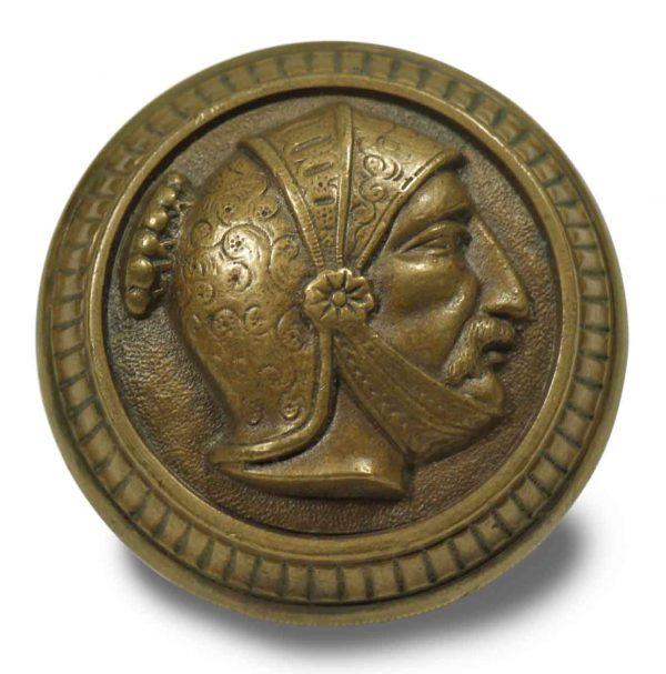 Door Knobs - Antique Mallory Wheeler Greek Head Bronze Door Knob