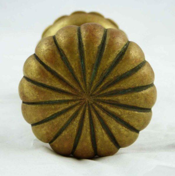 Door Knobs - Antique Radial Bronze Fluted Door Knob Set