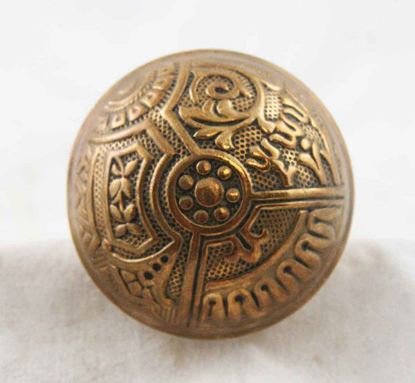 Door Knobs - Antique Vernacular Corbin Ceylon Brass Knob Set