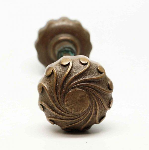 Door Knobs - Antique Yale & Towne Romanesque Bronze Knob Set