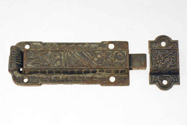 Door Locks - Victorian Bronze Bolt Latch