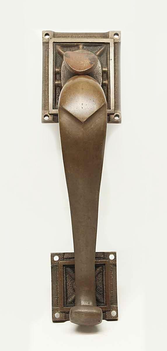Door Pulls - Antique Art Deco Bronze Door Handle with Thumb Latch