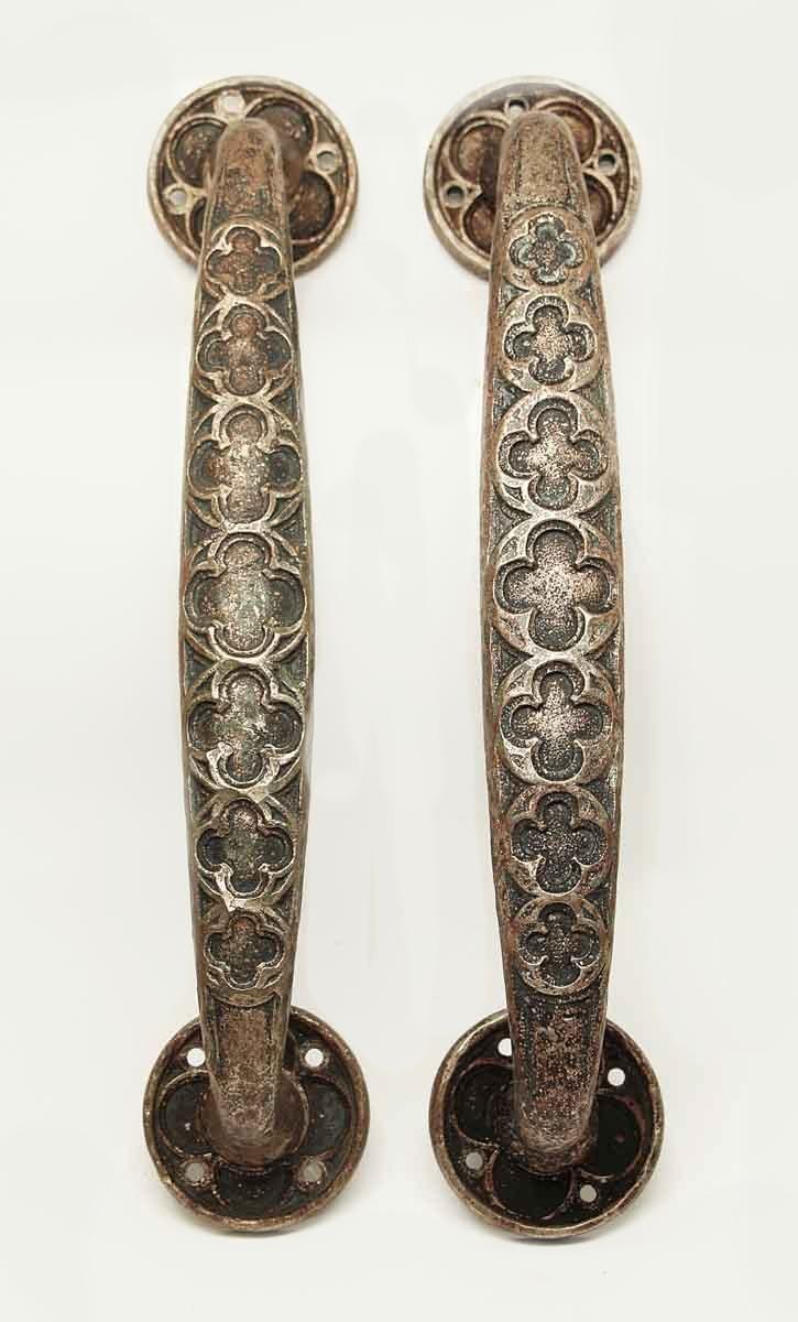 Antique Gothic Bronze Door Handle Pulls | Olde Good Things