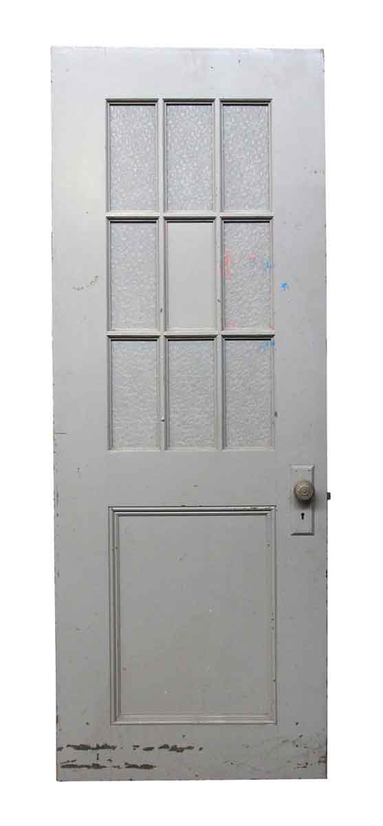 Entry Doors   Antique Entry Door With 9 Glass Panels