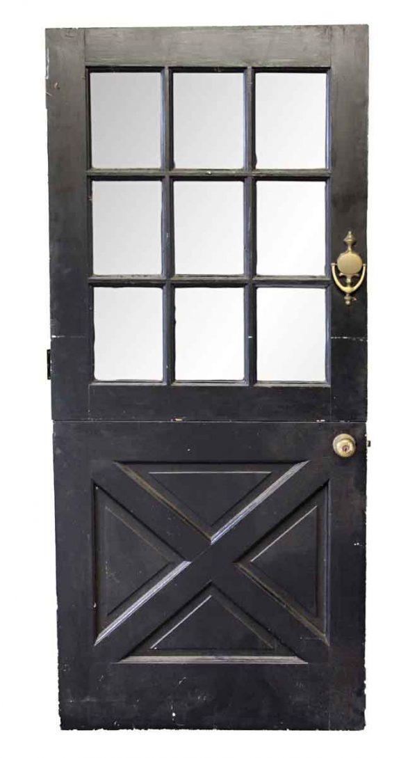 Entry Doors - Old Black & White Dutch Door