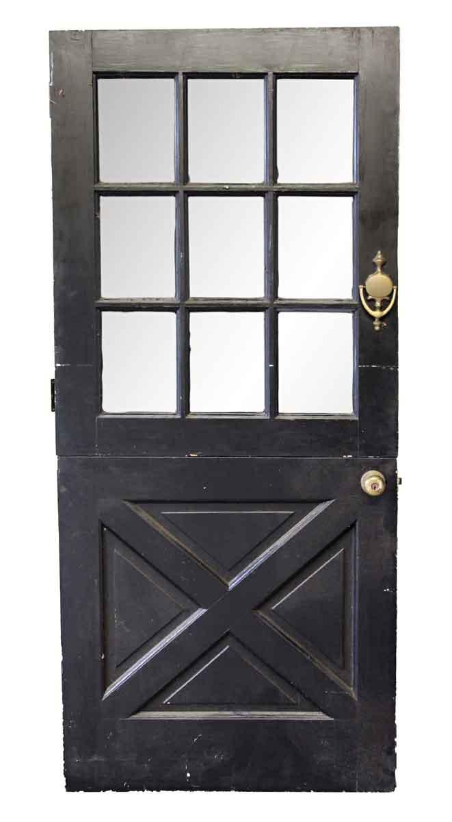 Merveilleux Entry Doors   Old Black U0026 White Dutch Door