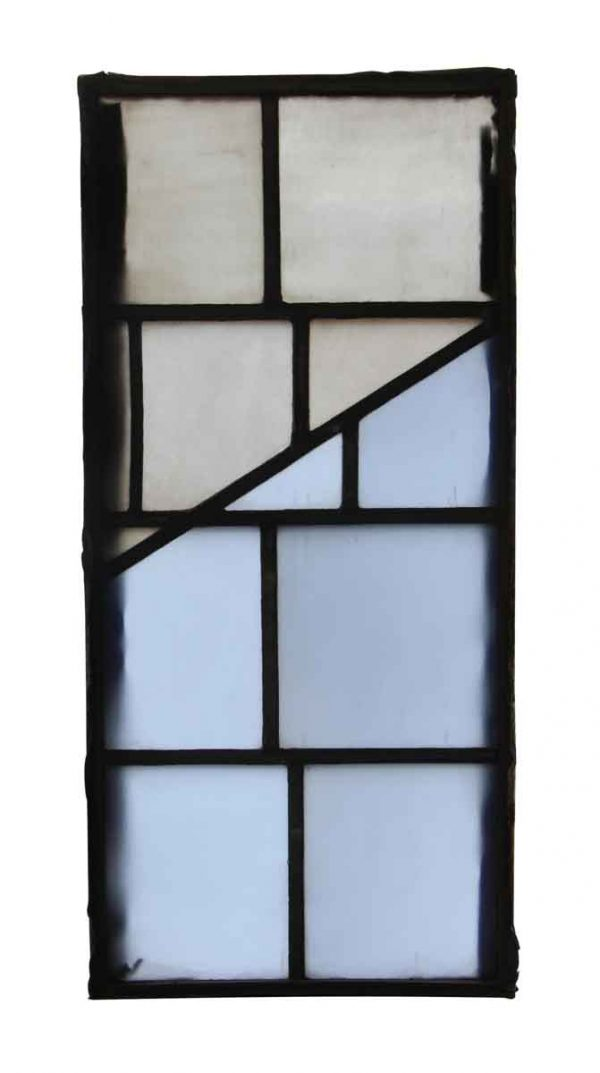 Exclusive Glass - Salvaged Light Blue & Clear JFK Glass Window Panel
