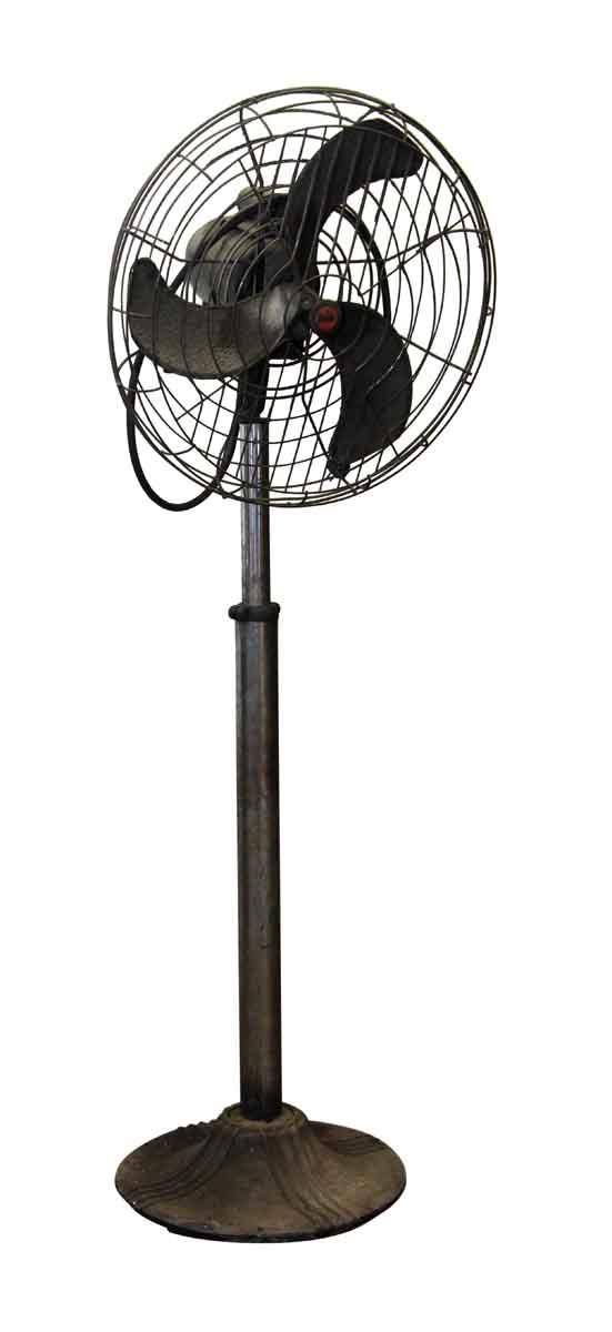 Fans - Vintage Cast Iron Black Diehl Industrial Floor Fan