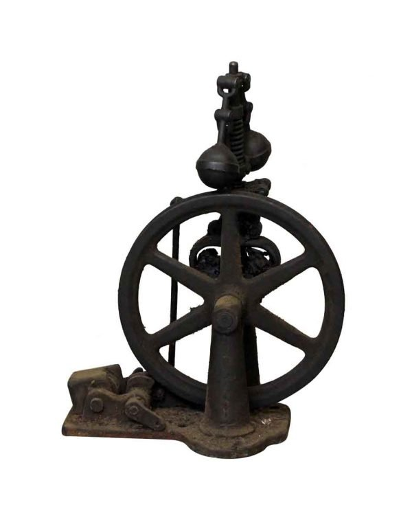 Industrial - Early 1900s Black Iron Elevator Speed Governor