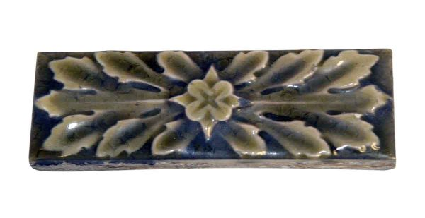 Liners Tiles - Antique Green Leafy Tile