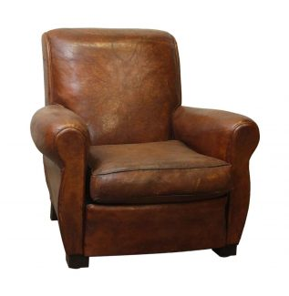 Vintage Imported Leather Club Chair