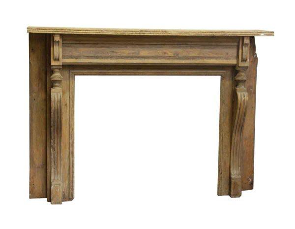 Mantels - Unfinished Antique Wood Mantel