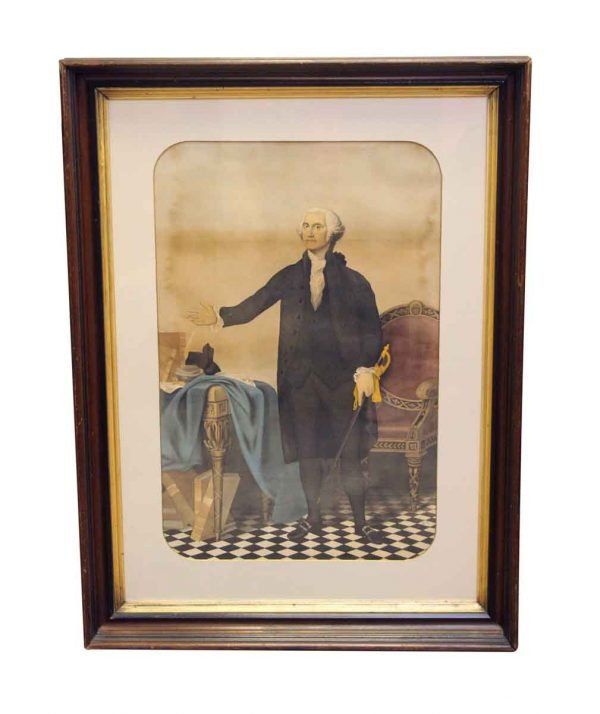 Prints  - Antique Framed Print of George Washington