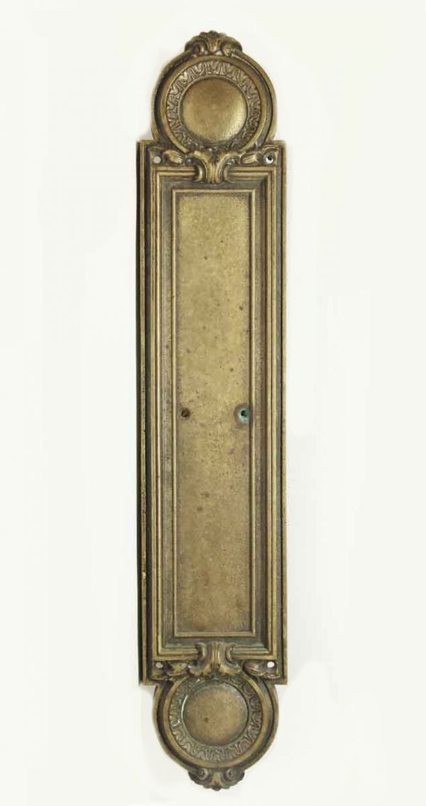 Push Plates - Antique Victorian Bronze Push Plate